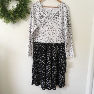 NWT Lularoe Georgia Leopard Print Dress